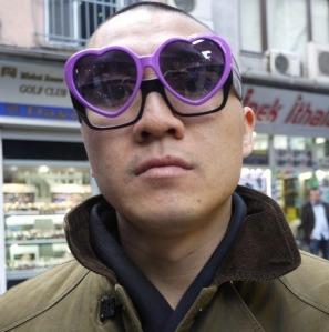 Glasses shopping.